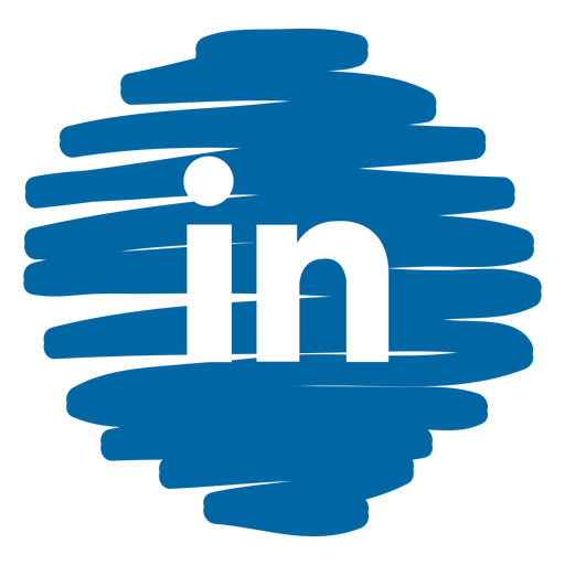 linkedin distorted round icon by vexels