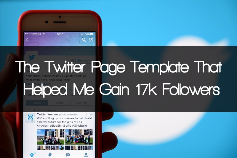 twitter page template