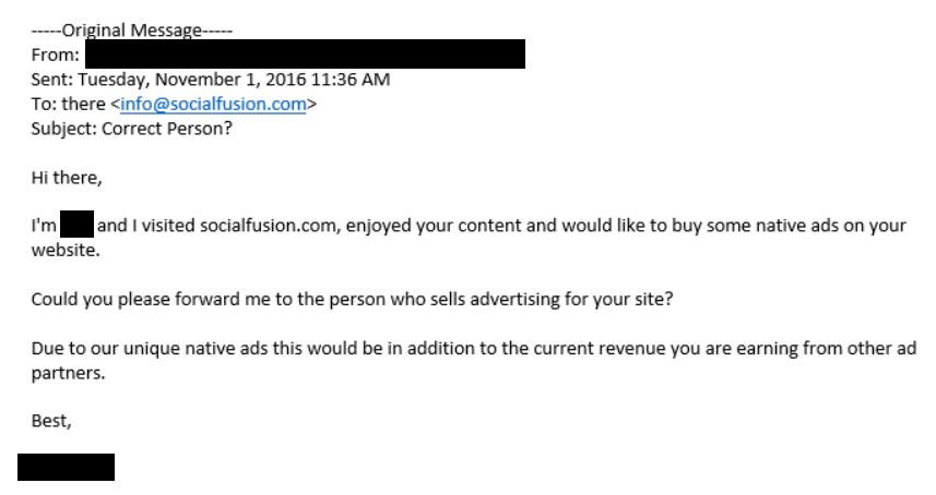 email slide