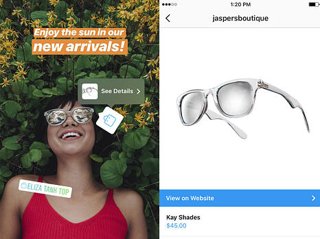 ig-shopping tags for stories